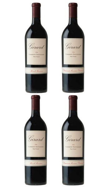 Includes: 2 Cabernet Sauvignon, Howell Mountain & 2 Cabernet Sauvignon, Mount Veeder