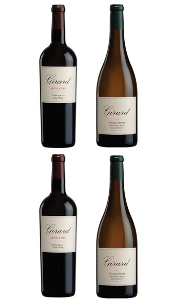 Includes: 2 Cabernet Sauvignon, Napa Valley & 2 Chardonnay, Russian River Valley